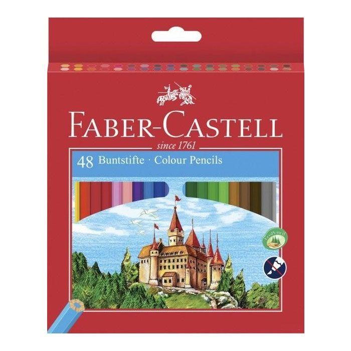 فابر كاستل طقم الوان خشب طويل علبة كرتون 48 لون توبى مصر